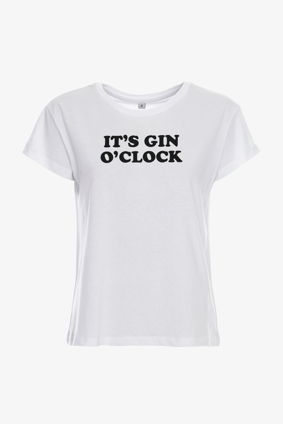 Gossengold - It's Gin O'Clock Statement T Shirt Women - white
