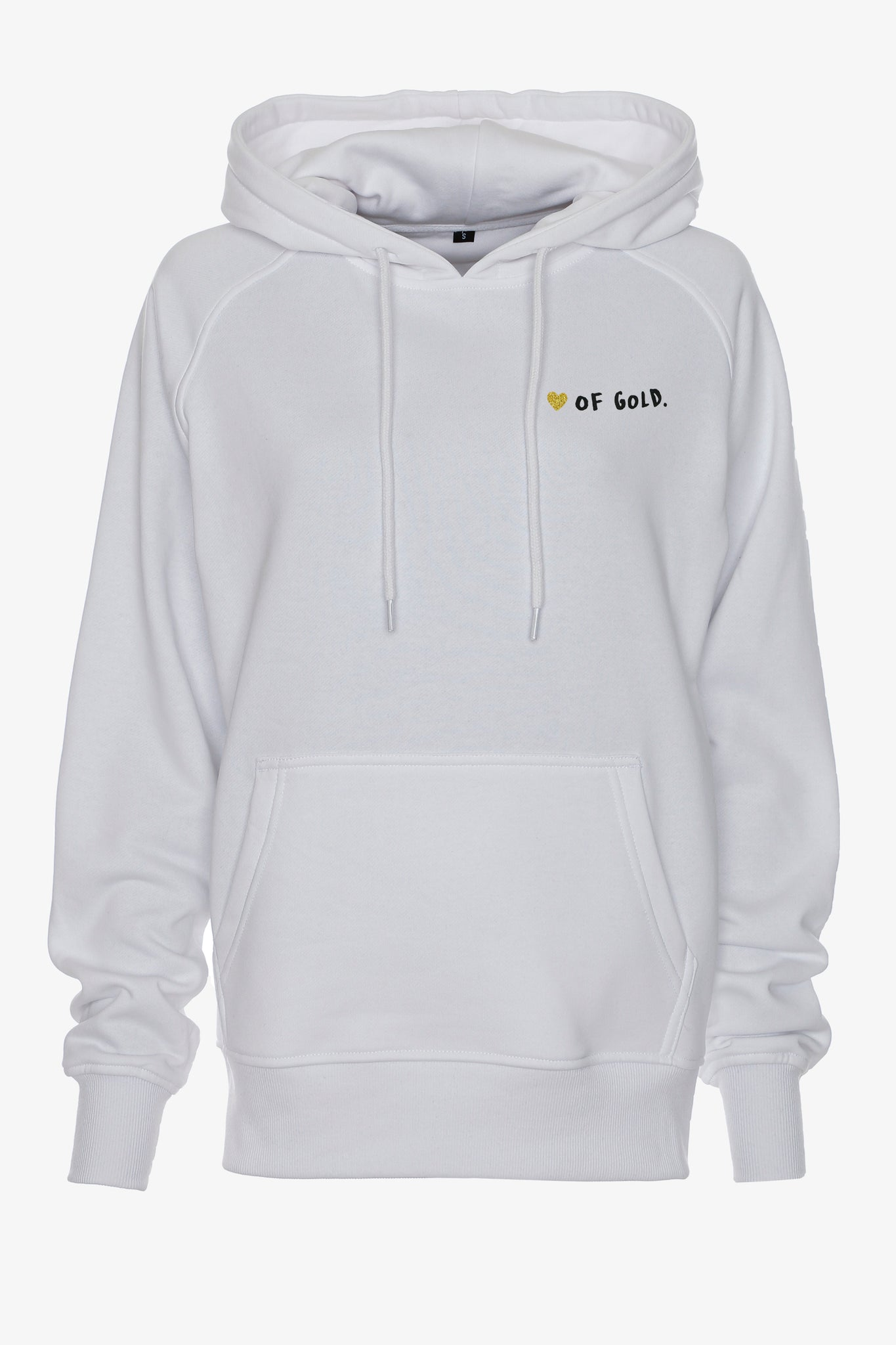 Gossengold - Heart of gold Slogan Hoodie Damen - Weiß
