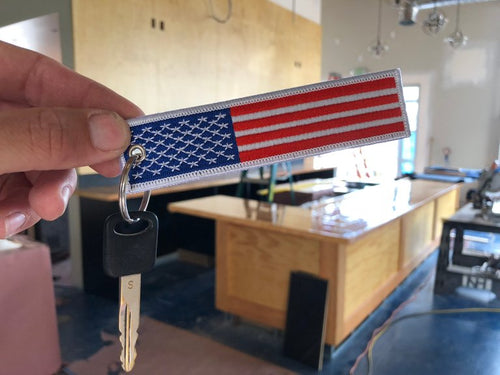 American Flag WORKFORIT KeyTag