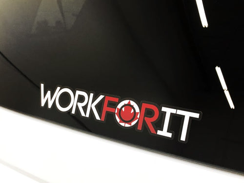 Canadian Flag WORKFORIT Decal