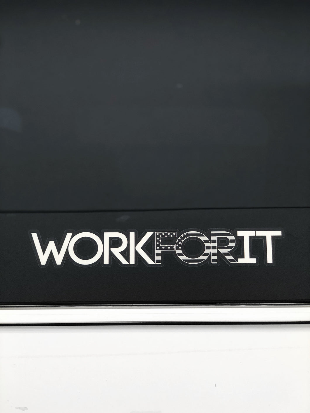 AMERICAN FLAG (BLACK/GREY) WORKFORIT Decal