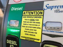 Load image into Gallery viewer, Don't Block The Diesel Pump Sticker 3 Pack
