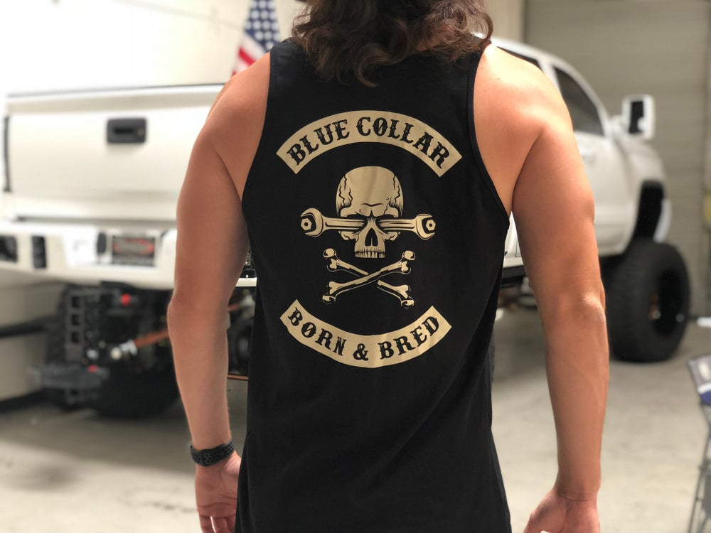 Blue Collar Born and Bred Tank Top