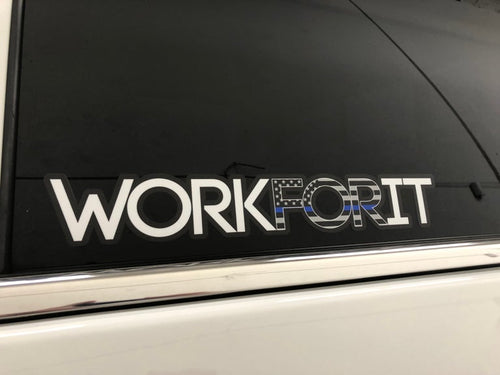 Thin Blue Line WORKFORIT Decal