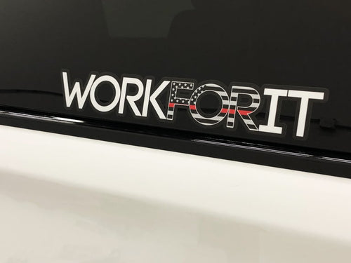 Thin Red Line WORKFORIT Decal