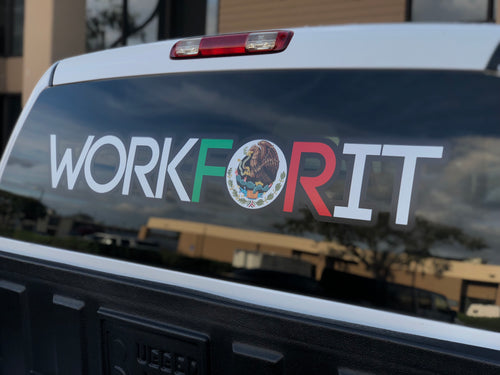 XL Mexican Flag Workforit Decal