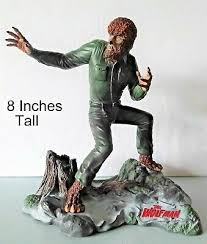"Image of Wolf Man 8.5"" Porcelain Statue"
