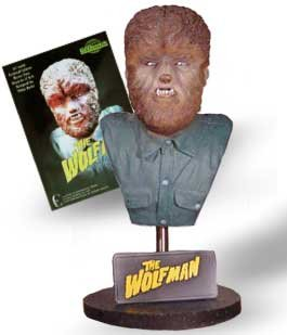 "Wolf Man 7.5"" Resin Bust"
