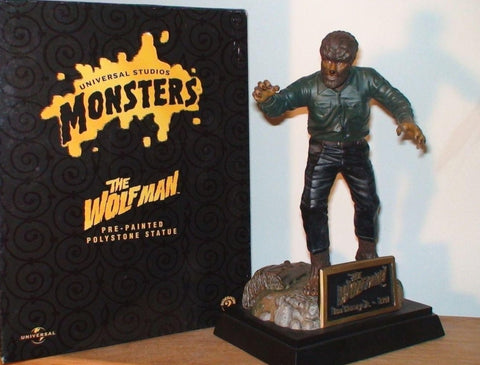 "Image of Wolf Man 9"" Polystone Statue"