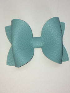 Pastel Teal pebbled bow
