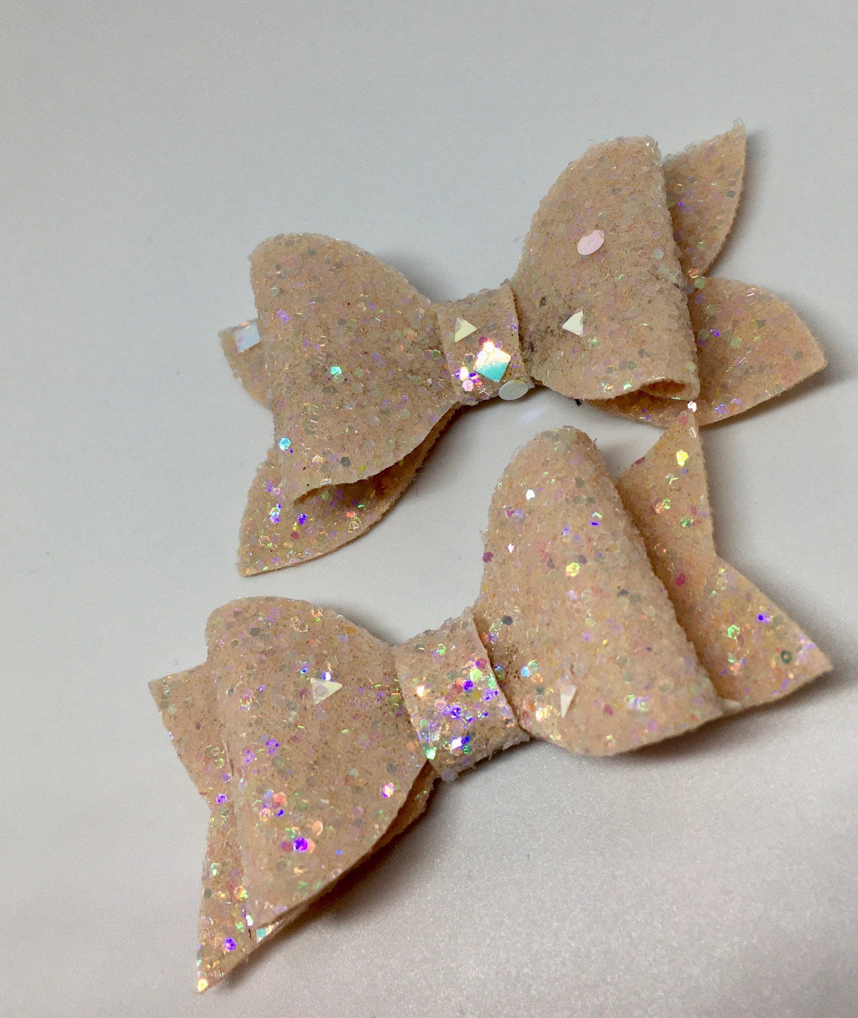 Geometric glitter light peach