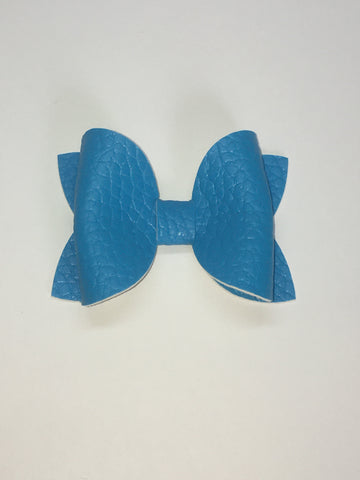 Electric Blue pebbled bow