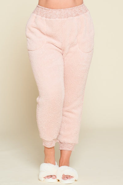 Loungin Like a Bear Pants- Pink