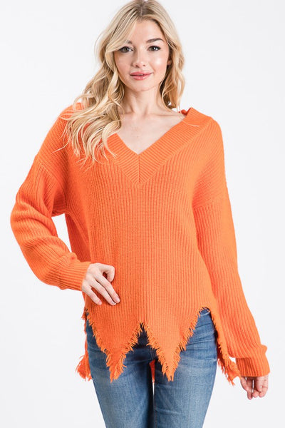 Feelin' Good Sweater- Orange