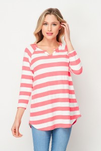 Trust the Stripes Top- Pink