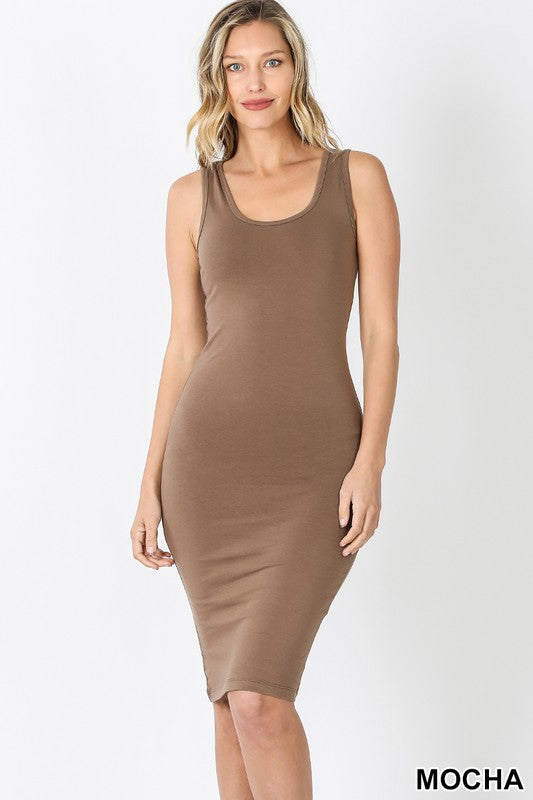 Like A Glove Midi Dress- Mocha