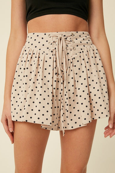 Lace Me in Polka Dots Shorts