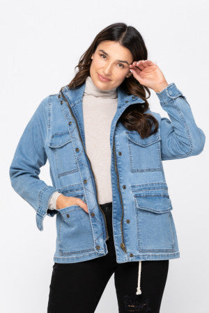Judy Blue Denim- Utility Jacket