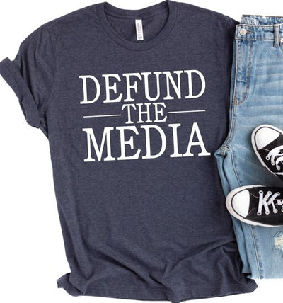 PREORDER Defund the Media Tee- WAITLIST YOURS NOW