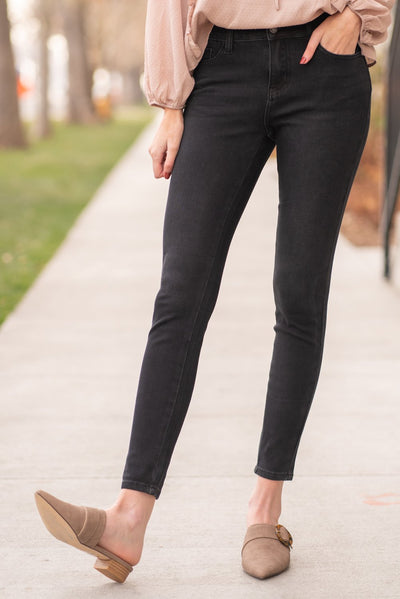 The Stacey- Judy Blue Black Thermal Skinny