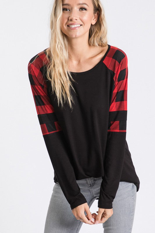 Play it Cool in Plaid Top