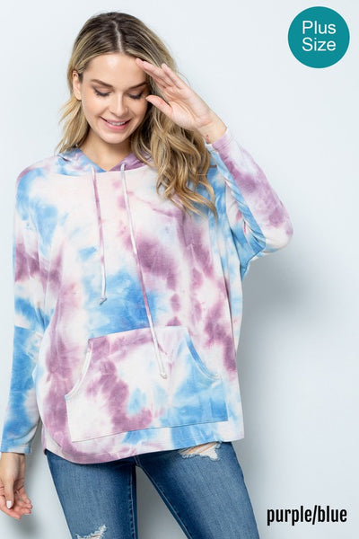 Into the Fall Hoodie- Purple/ Blue