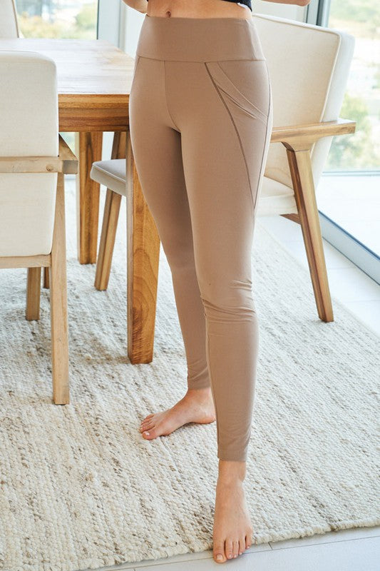 Lovin' Solid Leggings- Taupe