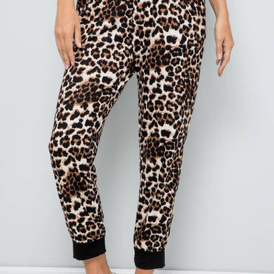 Cozy at Home Joggers- Leopard
