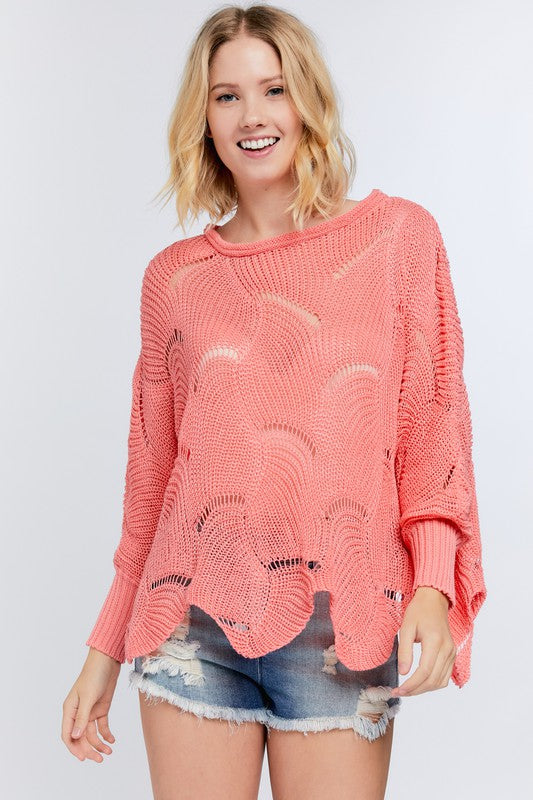 Sexy Mom Sweater- Coral