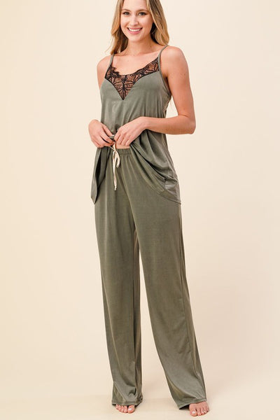 Living in Silk Pants- Olive