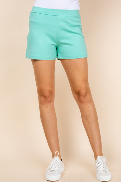 Everyday Solid Shorts- Mint