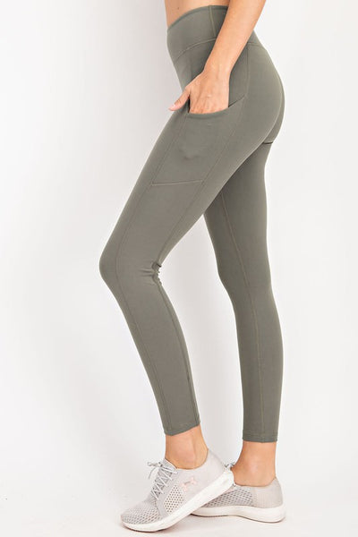 Best Leggings Ever - Smokey Grey with Pockets!