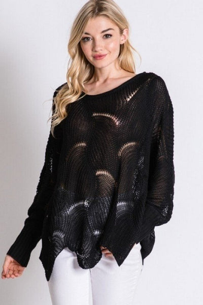Sexy Mom Sweater- Black
