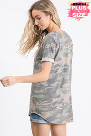 Camping Out Camo Tee