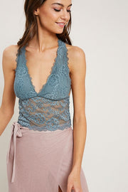 Lace Racerback Bralette- Winter Teal