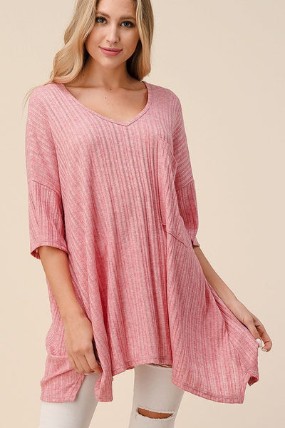 Ribbed Goddess Top- Mauve