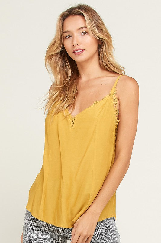 Make You Mine Cami Top- Mustard