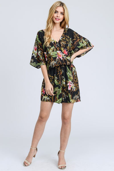 Off to Hawaiian Floral Romper
