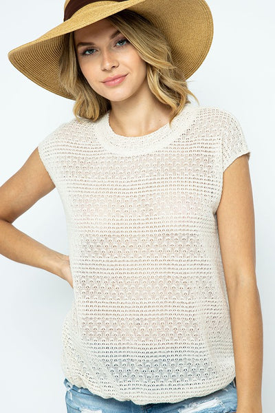 Everything to Love Knit Top- Cream