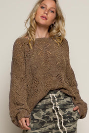 Breezy Night Sweater- Mocha