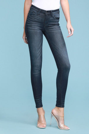 Judy Blue- Mid Rise Rayon Skinny