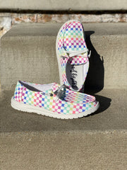 Gypsy Jazz Multi Color Raceway Slip On- Hey Dude Dupes