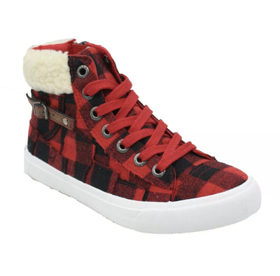 Blowfish High Top Sneaker- Red Plaid