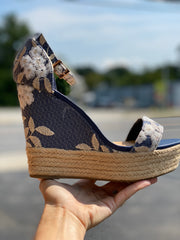 Bamboo- Blue/ Gold Wedges