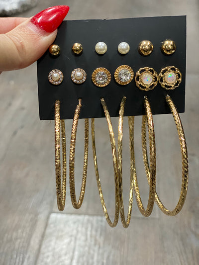 Style L:  Studs & Hoops 9pk