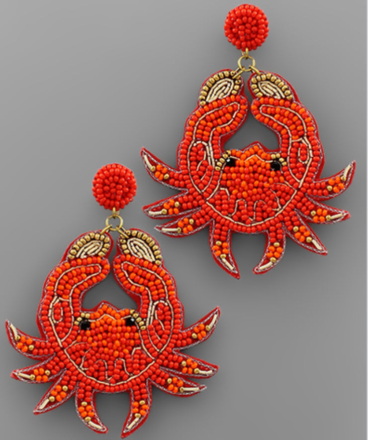 RESTOCK Beaded Crab Earrings