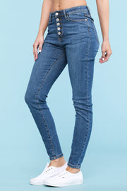 Judy Blue Denim- Button Fly Skinny