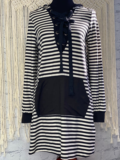Striped Hottie Sweatshirt Dress