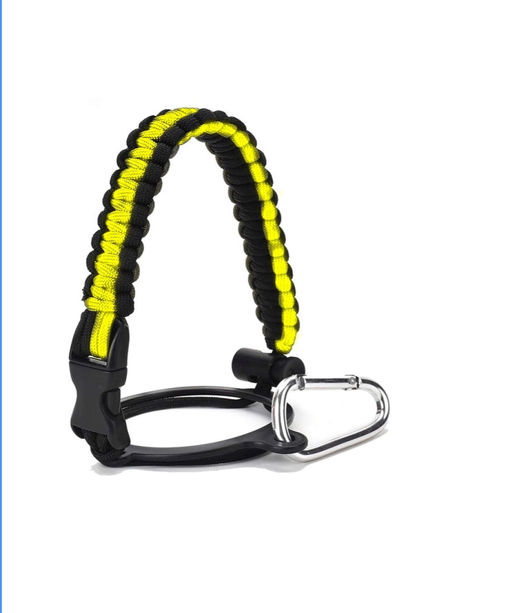 Paracord for Water Bottle- Yellow/Black