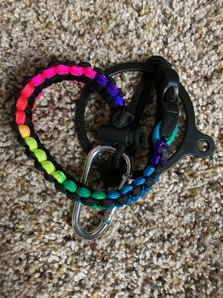 Rainbow Paracord for Water Bottle